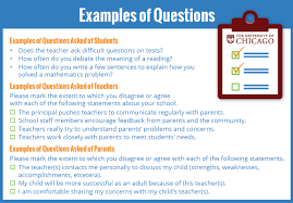 School Survey Questions For Parents Illinois Surveys Teachers Students And Parents On The Essentials Of