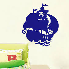 pirate ship wall stickers for children