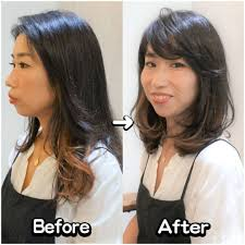 髪の長さは変えずに変化が欲しい顔周りのレイヤーと毛量調節で動きの