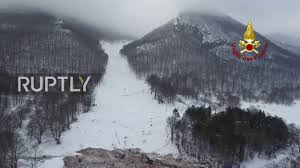 Italy: Drone captures avalanche-devastated site of Hotel Rigopiano