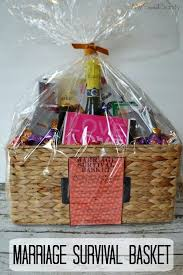 unique wedding gift basket ideas how to make a marriage survival basket wedding gift basket ideas