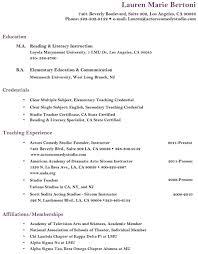 Resume Lauren Bertoni Studio Teacher Academic Tutor Acting Coach