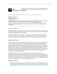 Oil And Gas Investment Banking Jobs Cover Letter Investment
