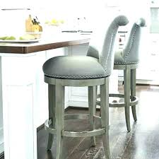 grey counter stools leather height bar gray barrel back