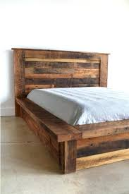 rustic bed plans.  Plans Rustic Bed Frame Plans Marvelous Reclaimed Wood Platform  And Crisp White Painted Wall L