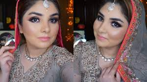 simple walima makeup tutorial by nishoo khan in urdu hindi