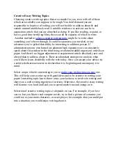 creative essay writing topics