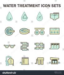 Water Treatment Plant Design Water Treatment Plant Water Filter Vector Stock Vector