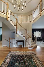 45 custom luxury foyer interior designs with wrap around landing above and stairs leading to the beautiful custom interior stairways