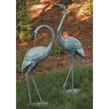japanese crane garden statues