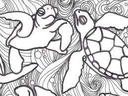Small Picture Turtle Coloring Pages For Adults