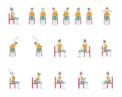 chair yoga for seniors. yoga sequence for seniors with chair and restorative poses a
