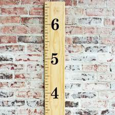 Ruler Growth Chart Vinyl Decal Diy Vinyl Growth Chart Ruler Decal Kit Traditional Style Jumbo S Black