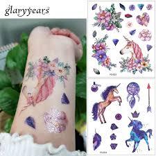 Glaryyears 24 Vzorů 1 List Třpytky Tetování Na Tělo Fg Vodotěsné