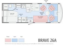 >winnebago brave floorplans and specifications details of the  floorplans winnebago brave 26a