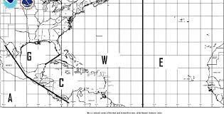 A Atlantic Basin Hurricane Tracking Chart National