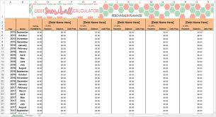 debt snowball calculator free free printable debt payoff sheet and free debt reduction snowball