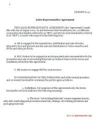 Non Sales Representative Agreement Template 24 Images Of Sales Rep ...