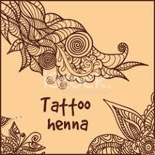 Abstraktní Vzor Tetování Hennou Stock Photos Vectorhqcom