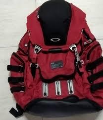 Rare Oakley Kitchen Sink Red Backpack Laptop Bag Mens Fashion