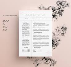Sakura Resume Template Cv Template Letterhead Sky Simple Resume