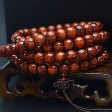 dels about natural pterocarpus red sandalwood round buddha beads bracelet 108 bead for gift