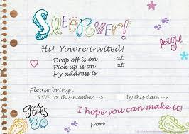 free sleepover invitation templates teenage sleepover invitations barca fontanacountryinn com