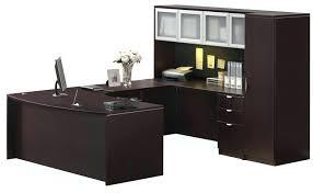 u shaped desk with hutch enlarge zoom realspacer magellan collection l shaped desk hutch bundle