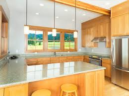 bozeman montana united states grey quartz countertops kitchen rustic with u shape light wood