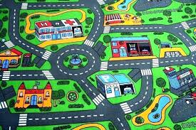 train track mat rugs car rug kids roads play with toy cars boys road a street train track mat rug