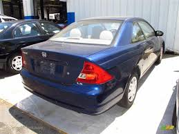 2003 Honda Civic LX Coupe in Eternal Blue Pearl photo #2 - 050191 ...