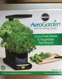 miracle gro aerogarden smart countertop garden black ships fast