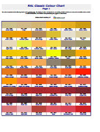 Ral Chart Download Ral Color Chart Free Download Edit Fill Create And Print
