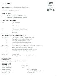 Sample Resume For Application Example Of Resume Application Job