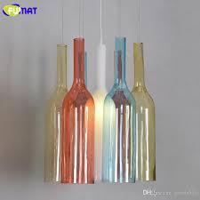 fumat colored glass bottles pendant lights modern living room