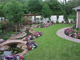 Simple Front Lawn Landscaping Ideas With Grass And Flower Garden  Inspirations Inspiring Yard Flowers Small Simple