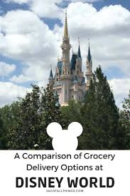 a parison of the panies that offer grocery delivery to disney world including amazon