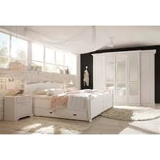 Schlafzimmerset Avuna In Weiß Kiefer Im Landhaus Design Pharao24de