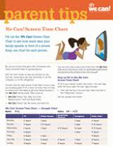 Screen Time Recommendations By Age Chart Printable Screen Time Chart For Kids Familyeducation