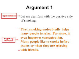 argumentative essays argumentative essay a type of essay that argument 1 let me deal first the positive side of smoking