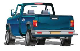 Royalty Free Back Of Pickup Truck Clip Art, Vector Images ...