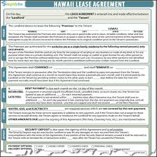 Free Tenant Agreement Form Hawaii Rental Agreement 21