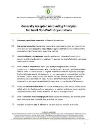 Generally Accepted Accounting Principles For Small Non Profits Coco