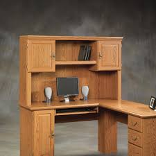 sauder computer desk with hutch features the sauder harvest mill solid wood