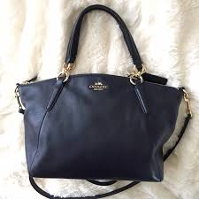Coach Midnight Navy Blue Small Kelsey Satchel Bag
