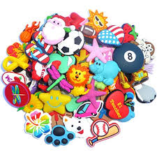 Lot of <b>100 Pcs PVC</b> Different Shoe Charms for Wristbands and Shoes