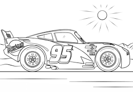 lightning mcqueen drawing. Plain Drawing Lightning McQueen From Cars 3 Coloring Page And Mcqueen Drawing