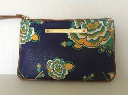 image is loading nwts brahmin sally navy belize navy leather wristlet