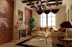 fascinating wooden house with brick sticking out rustic design vintage living room design with fireplace