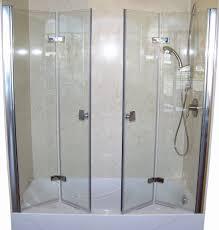 easily bi fold shower door frameless 25 awesome bifold glass doors with bifold bathroom doors